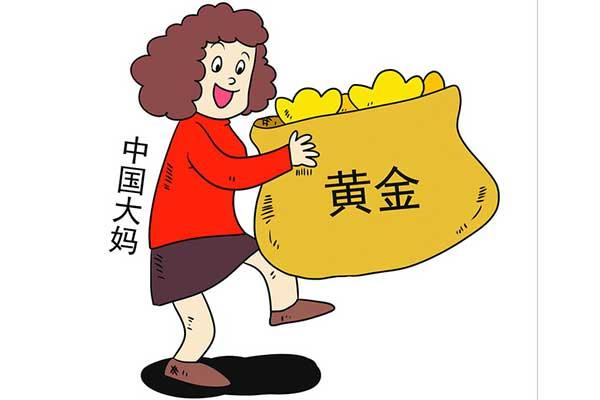 中国大妈抢购黄金