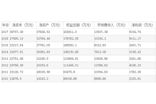 美尔雅期货有限公司近几年财务信息